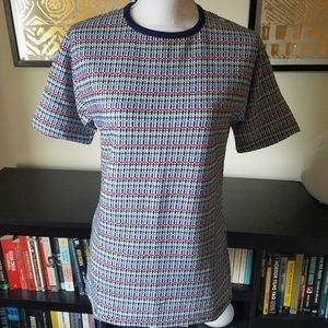 Vintage Grants Men's Grid Pattern Tee